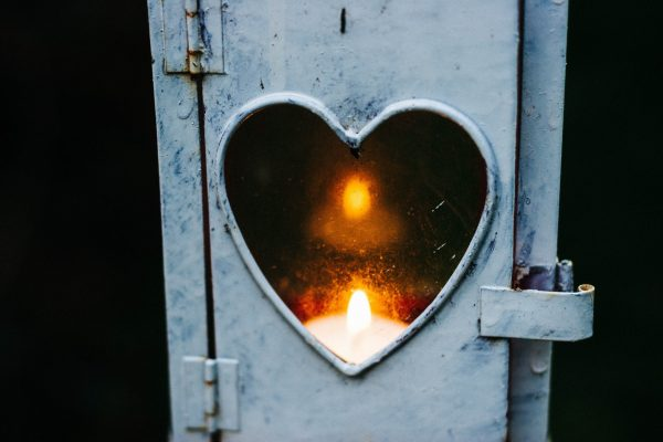 Heart with candle